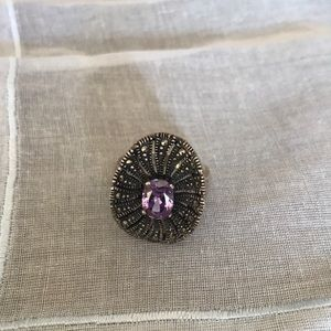 Jewelry - Marcasite & amethyst ring